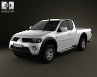 Mitsubishi L200 Triton  ClubCab 2011 3D Model