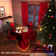 xmas dining room  3D Model
