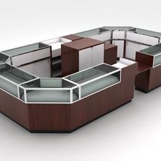 Showcase Kiosk Island 3D Model