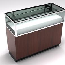 Retail showcase counter 4' 3D Model
