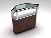 Retail showcase corner counter 3D Model