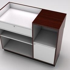 Retail showcase counter cash register 3D Model