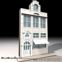old style facade 3D Model