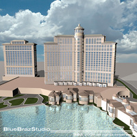 Bellagio Hotel Las Vegas 3D Model