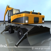 Hydraulic Excavators 3D Model