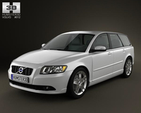 Volvo V50 2011 3D Model