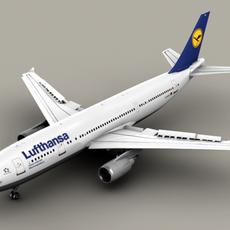 Airbus A300 Lufthansa 3D Model