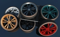 A simple, but nice wheel. 3D Model