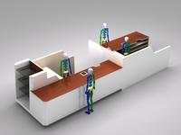 Register Checkout Counter Assembly 3D Model