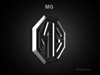 MG 3d Logo 3D Model