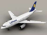 Airbus A310 Lufthansa 3D Model