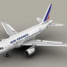 Airbus A318 Air France 3D Model