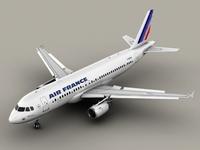 Airbus A320 Air France 3D Model