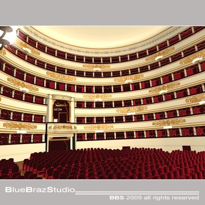 Scala Theatre interior 3D Model