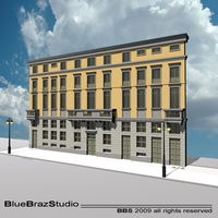 European building facade 3D Model
