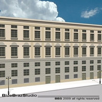 European building facade 2 3D Model