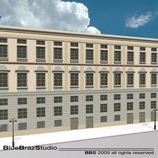 European building facade 2 3D Model