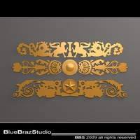 gold decoration 3D Model