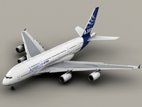 Airbus A380 New House Colors 3D Model