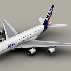 Airbus A380 Old House Colors 3D Model