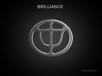 Brilliance 3d Logo 3D Model