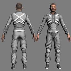 Futuristic man 3D Model