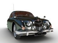 Jaguar Mark II Saloon MK2 1957 3D Model