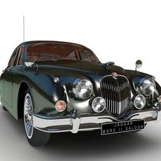 Jaguar Mark II Saloon MK2 1957 3D Model