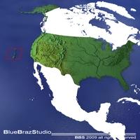 USA 3D Model