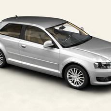 Audi A3 3 door 2009 3D Model