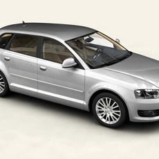 Audi A3 Sportback 2009 3D Model