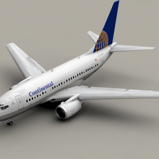 Boeing 737-600 Continental Airlines 3D Model