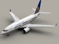 Boeing 737-700 Continental Airlines 3D Model