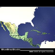 Central America 3D Model