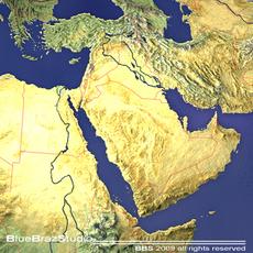 Middle East 3D Model