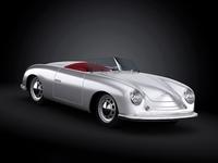 1948 Porsche 356 Roadster 3D Model
