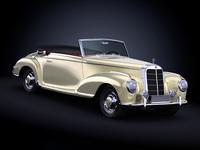 1955 Mercedes Benz 300S 3D Model