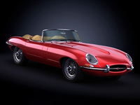 1963 Jaguar E Type 3D Model