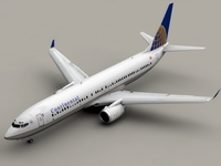 Boeing 737-900 Continental Airlines 3D Model
