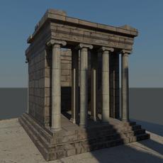 Temple of Nike Ruins 3D Model
