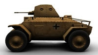 Csaba Armored Car 3D Model