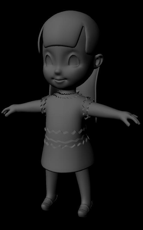 Highend 3D - 3D Models > Characters > Child compatible with Maya