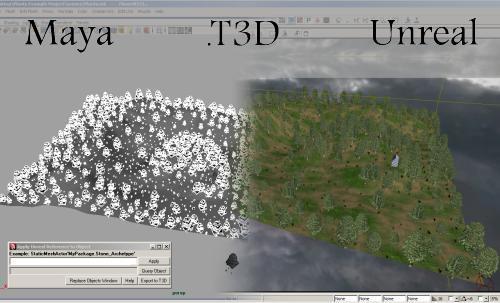 Maya to Unreal T3D Exporter for Maya - Free Games Scripts
