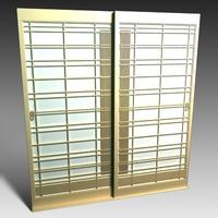Shoji style Sliding Door 3D Model