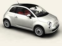 Fiat 500 2008 3D Model