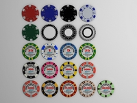Gambling chips 3D Model