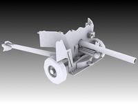 6 Pounder Anti-Tank 3D Model