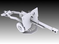 25 Pounder Artillery 3D Model