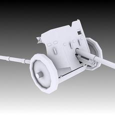 Pak 37 Anti-Tank 3D Model