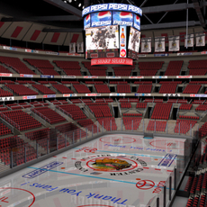 Ice Hockey Arena 3D Model